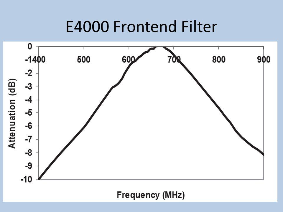 E4000 Frontend Filter