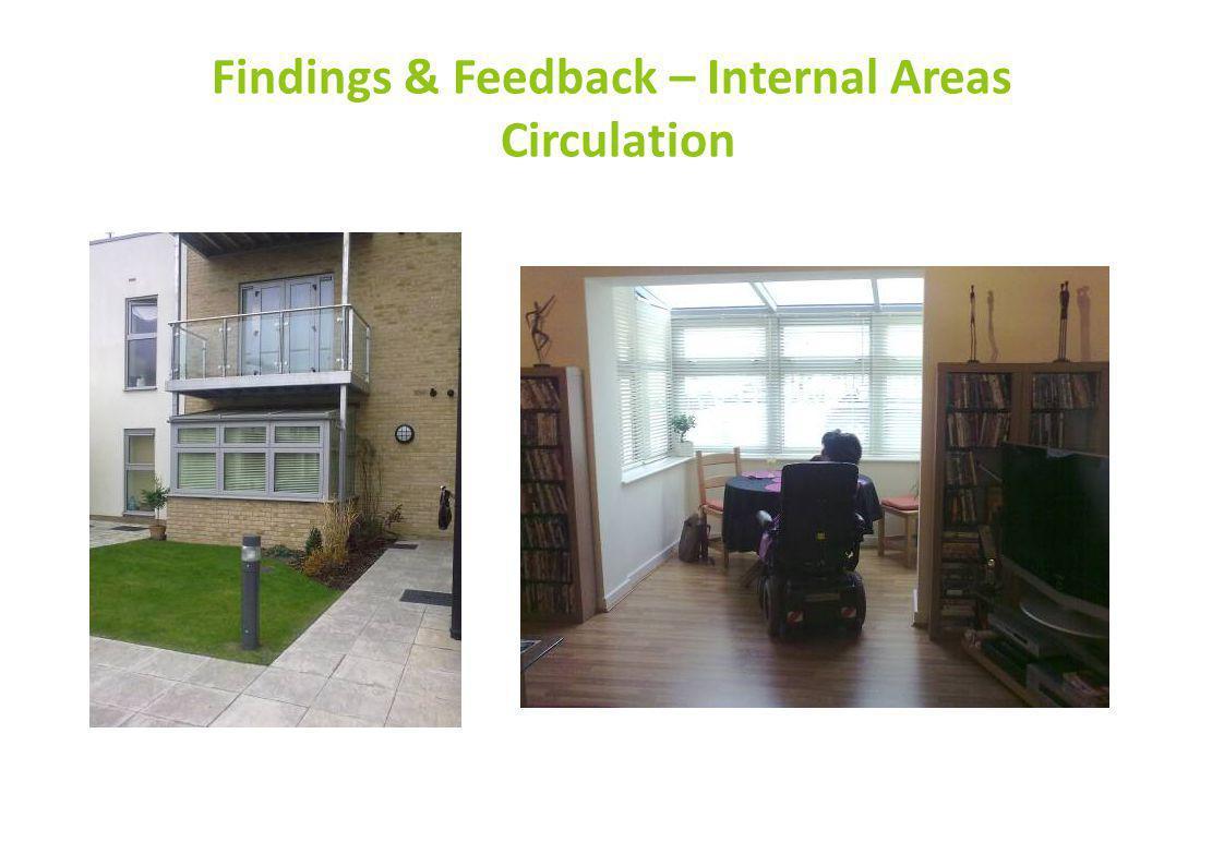 Findings & Feedback – Internal Areas Circulation