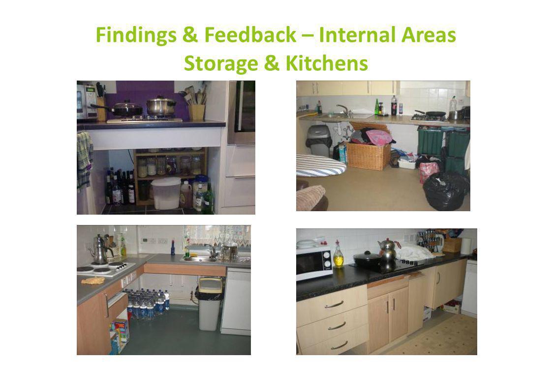Findings & Feedback – Internal Areas Storage & Kitchens