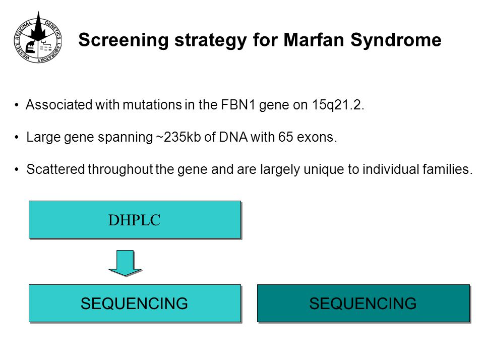 Screening strategy for Marfan Syndrome DHPLC SEQUENCING Associated with mutations in the FBN1 gene on 15q21.2.