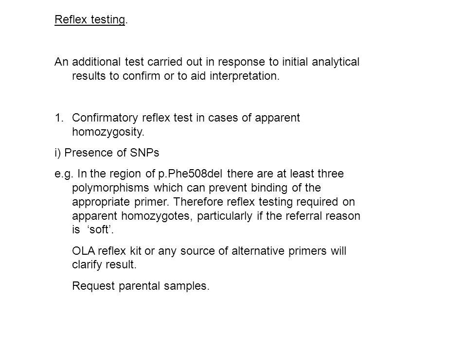 Reflex testing.
