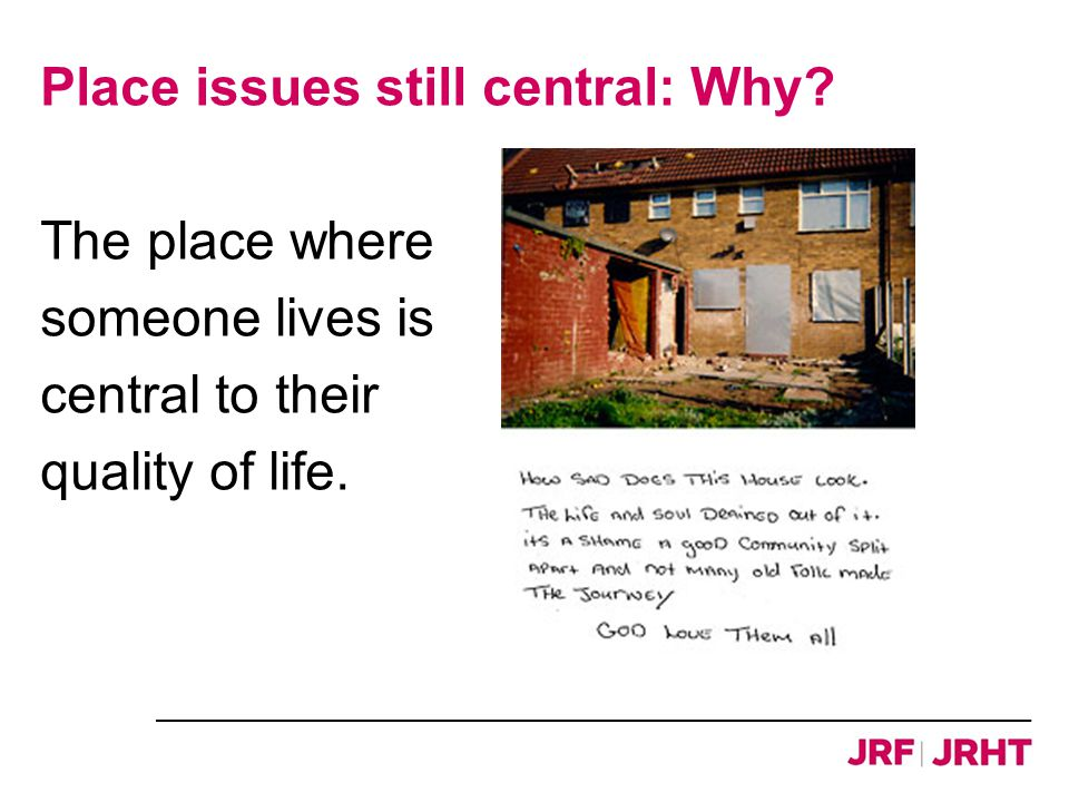Source: Clapham et al, 2011 A differential private rented sector…