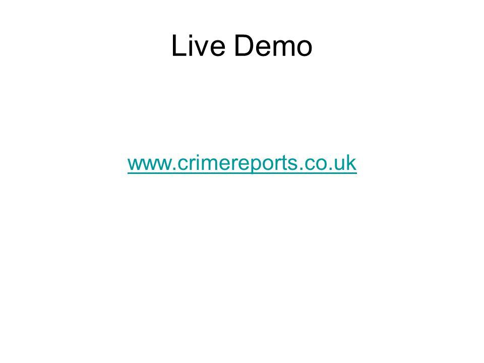 Live Demo www.crimereports.co.uk