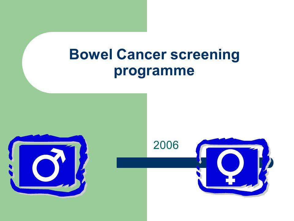 Bowel Cancer screening programme 2006