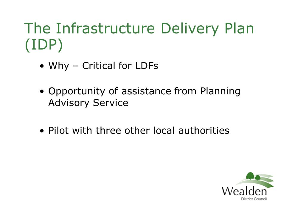 Infrastructure planning and delivery The core strategy should be supported by evidence of what physical, social and green infrastructure is needed to enable the amount of development proposed for the area, taking account of its type and distribution.