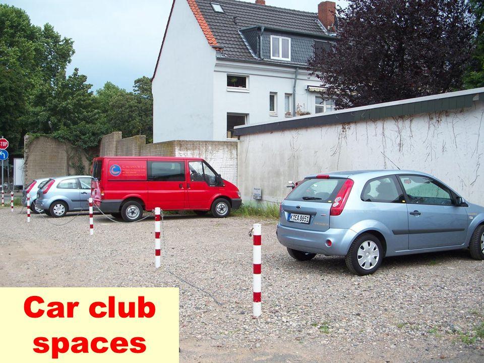 Car club spaces
