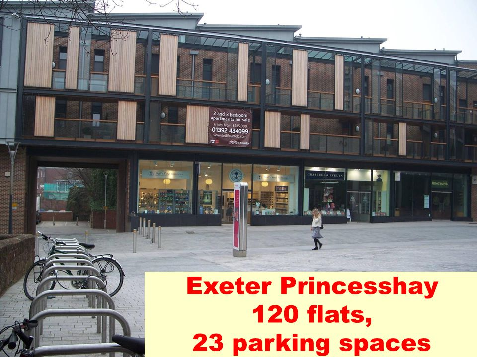 Exeter Princesshay 120 flats, 23 parking spaces