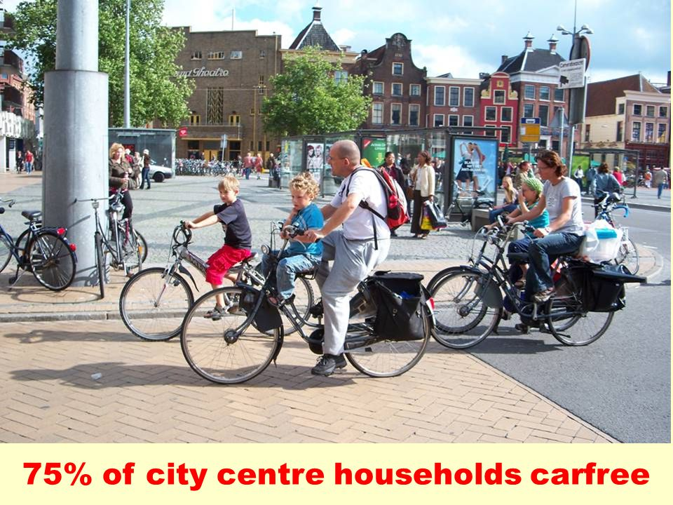 75% of city centre households carfree