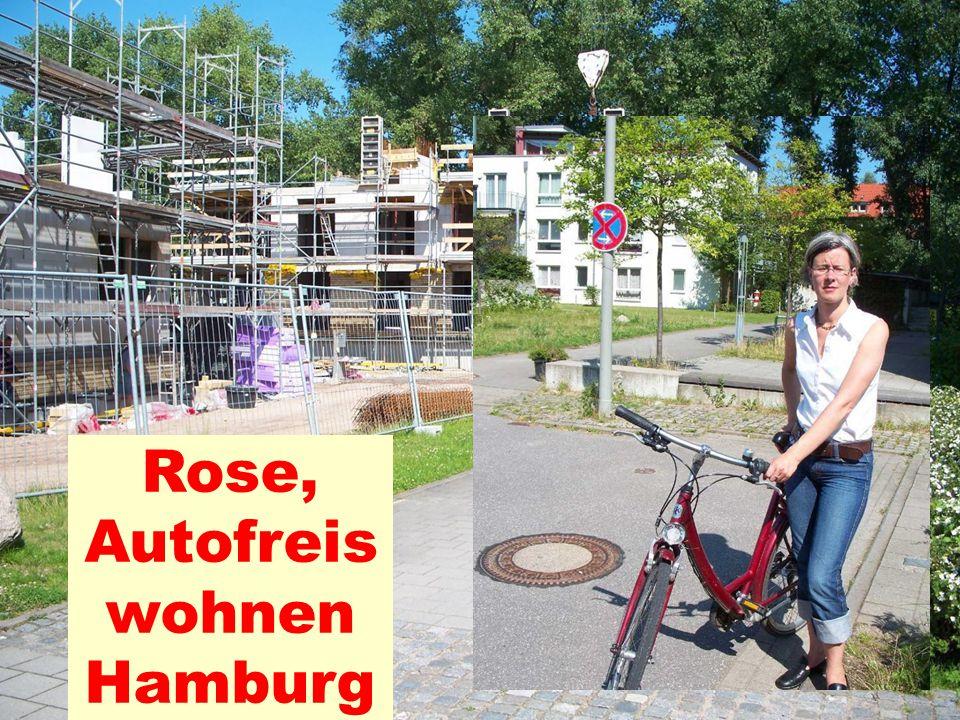 Rose, Autofreis wohnen Hamburg
