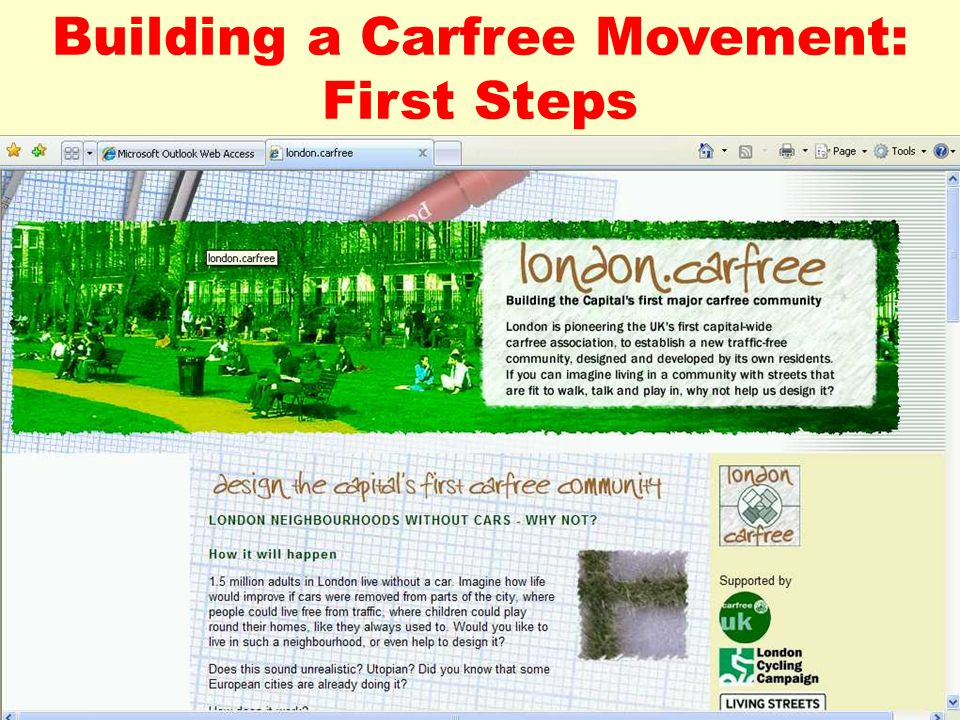 Building a Carfree Movement: First Steps