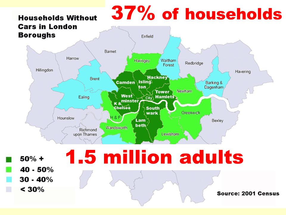 37% of households 1.5 million adults