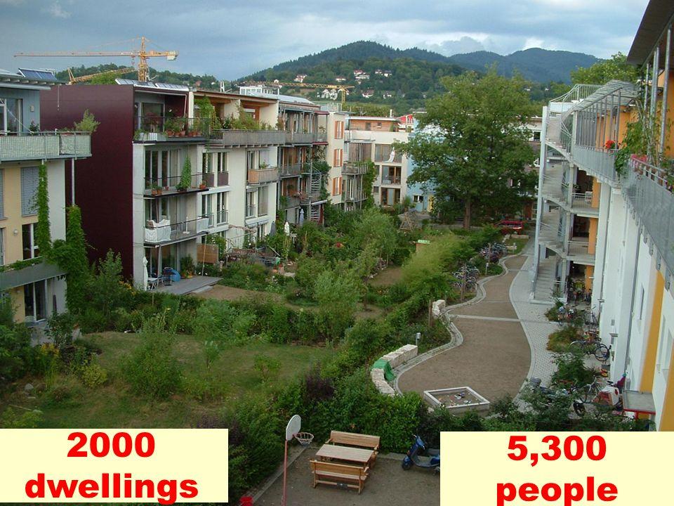 2000 dwellings 5,300 people