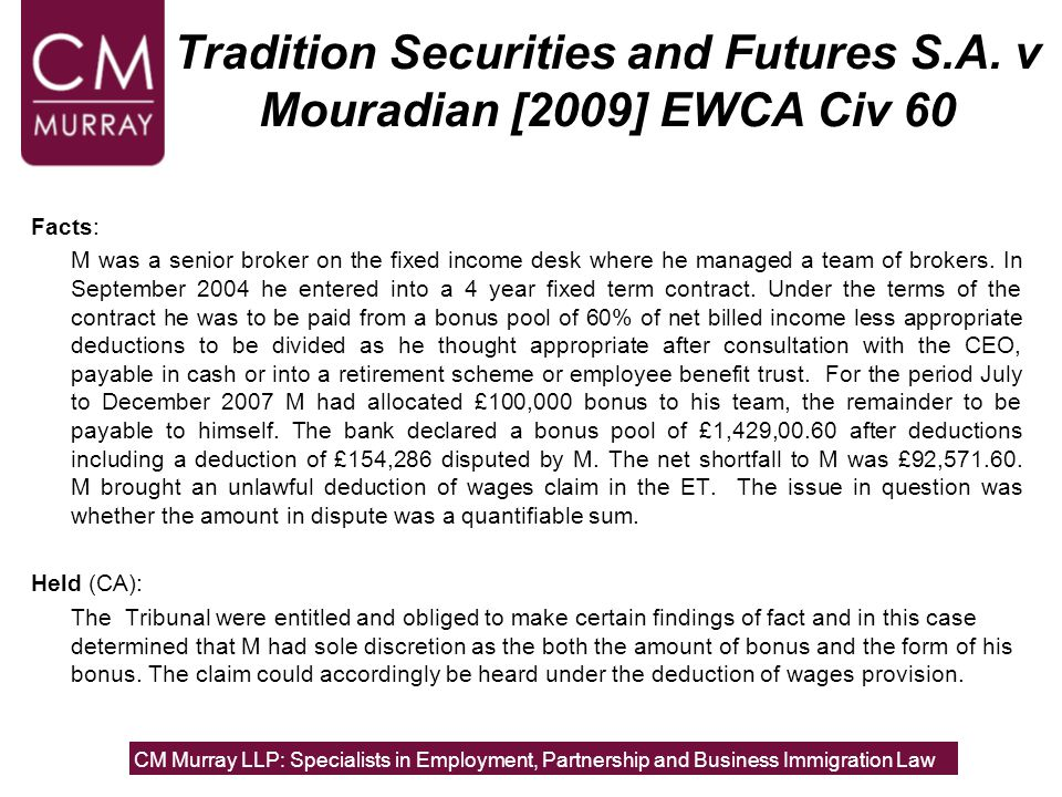 Tradition Securities and Futures S.A.
