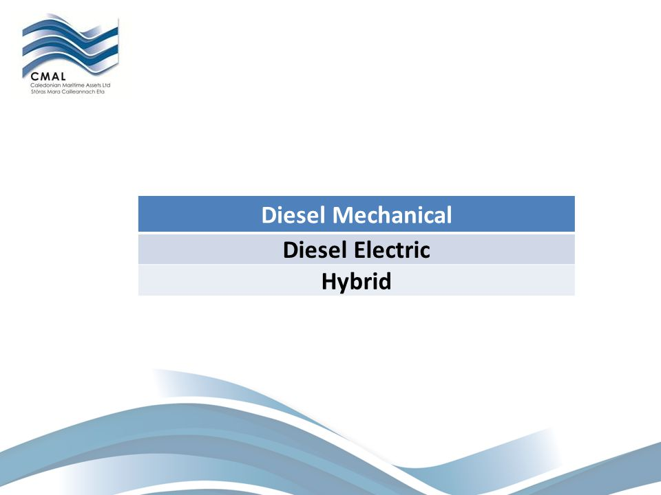 Diesel Mechanical Diesel Electric Hybrid