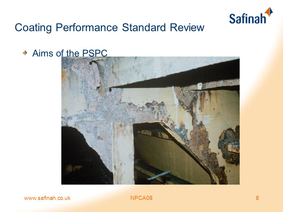 www.safinah.co.ukNPCA088 Coating Performance Standard Review Aims of the PSPC