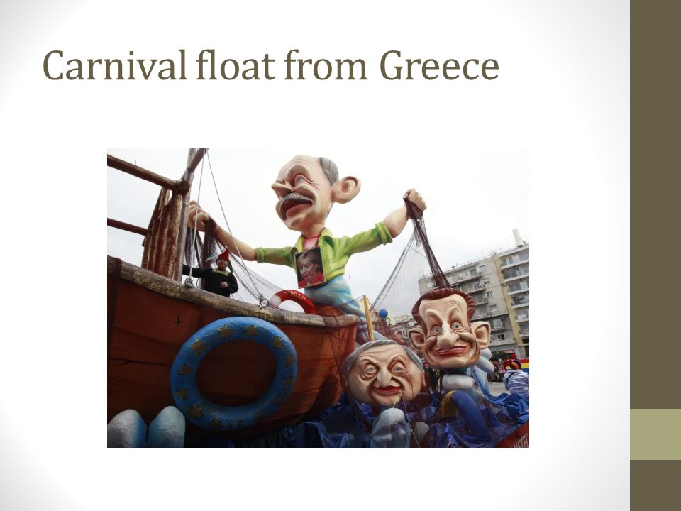 Carnival float from Greece