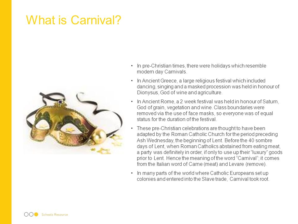 Carnival: from Africa to the Caribbean and to the UK After the Second World War, the UK Government encouraged mass immigration from the British Empire to help rebuild the country.