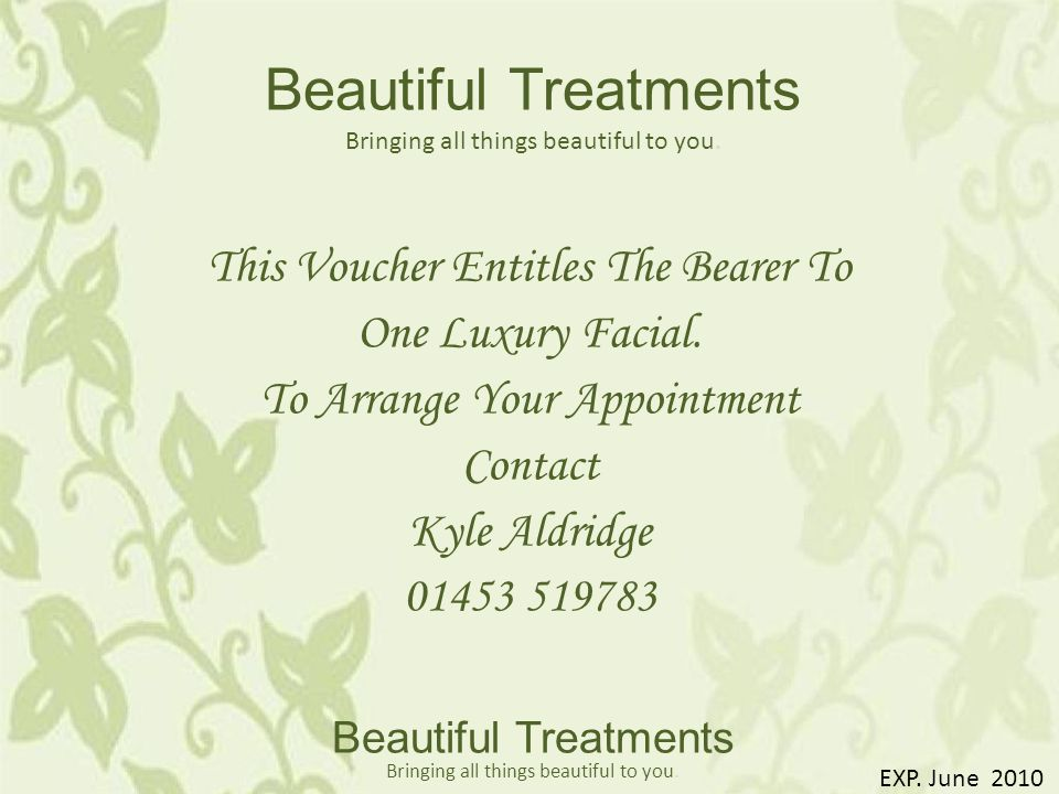 Beautiful Treatments Bringing all things beautiful to you.