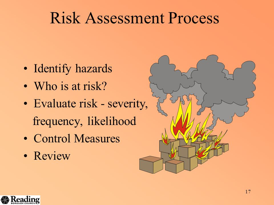 16 Hazard – potential to cause harm P eople E quipment E nvironment M aterials A ctivities