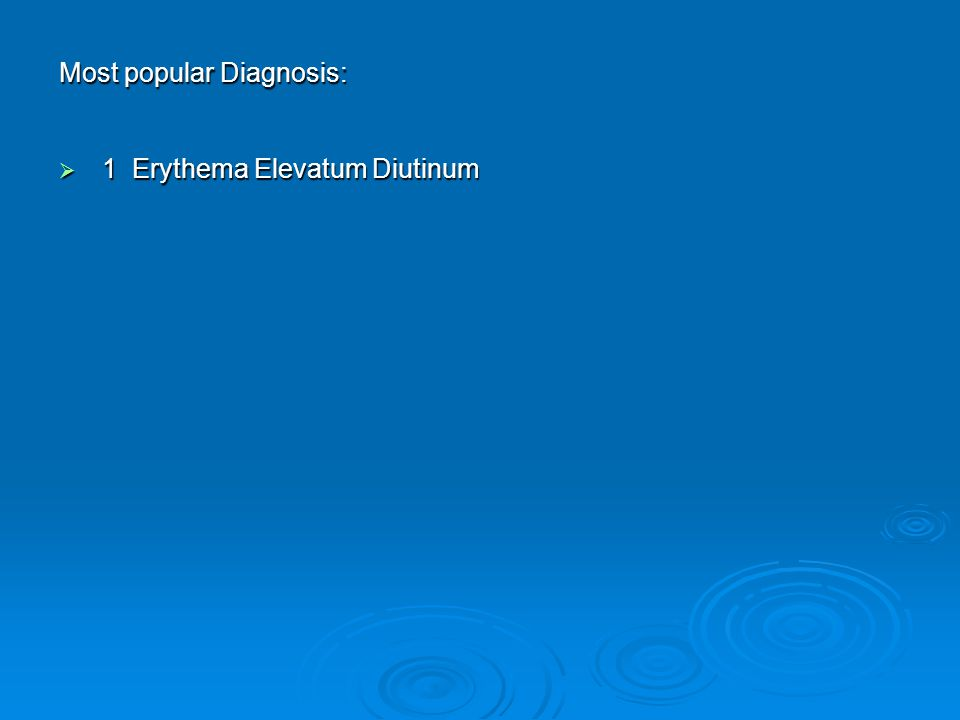 Most Popular Diagnosis: Aneurysmal Fibrous Histiocytoma