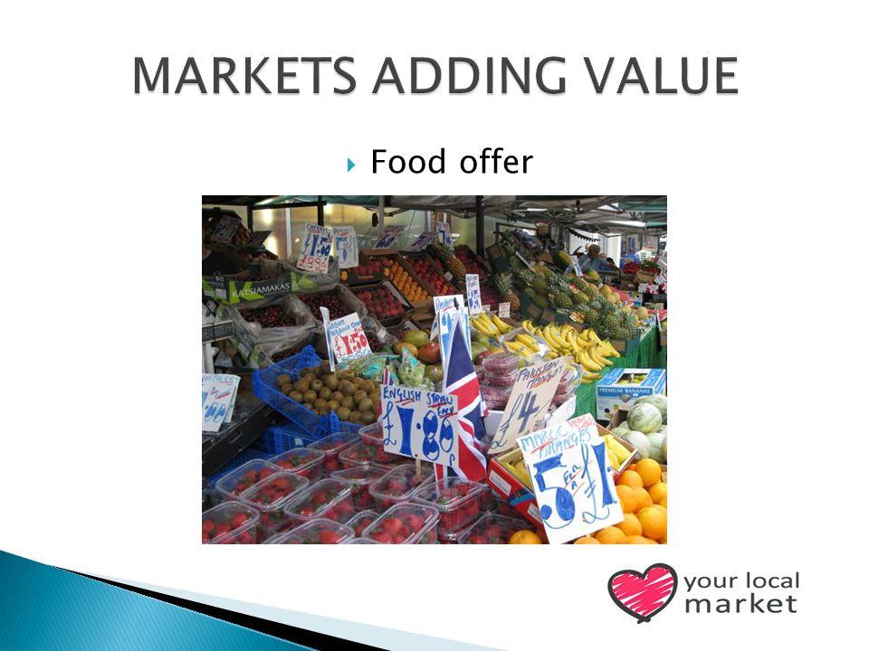  Food offer