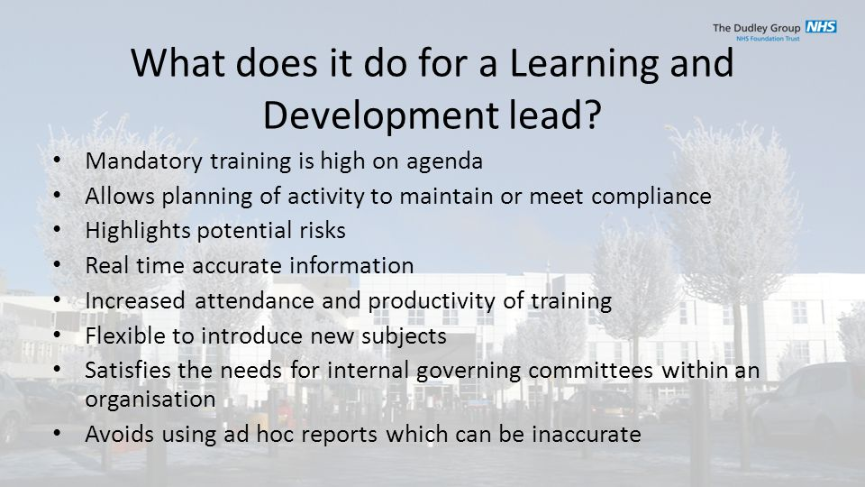 What does it do for a Learning and Development lead.