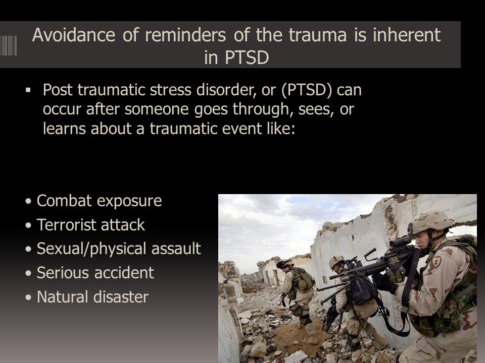 Conclusion Because PTSD is so common among military veterans, many under estimate the lasting effects of this disorder and do not seek the help that they need.