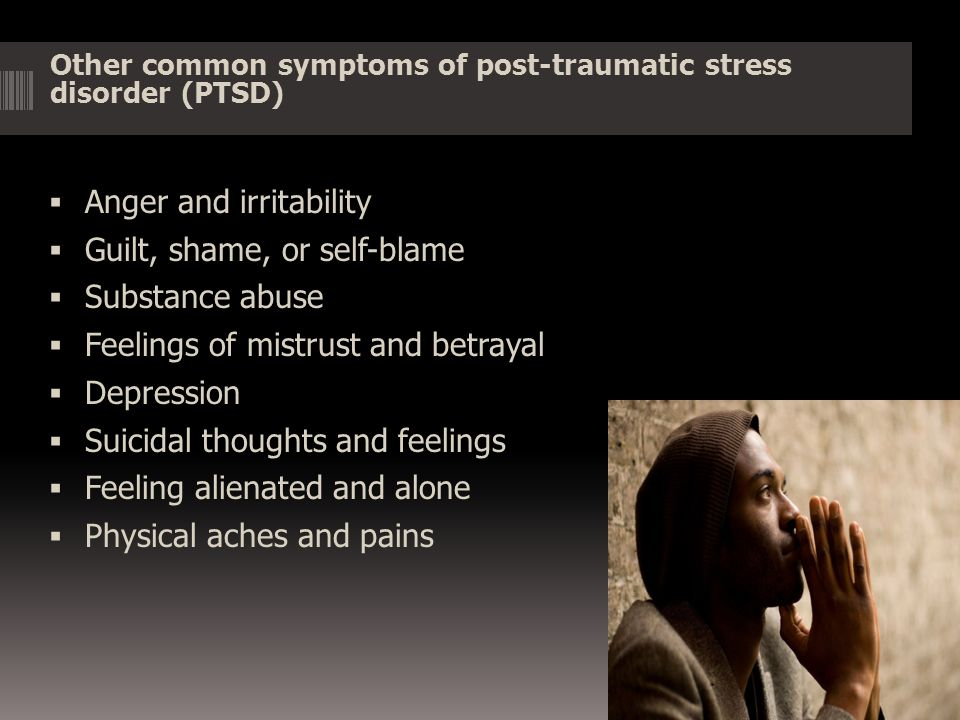 Post-traumatic stress disorder (PTSD) causes and risk factors Many risk factors revolve around the nature of the traumatic event itself.