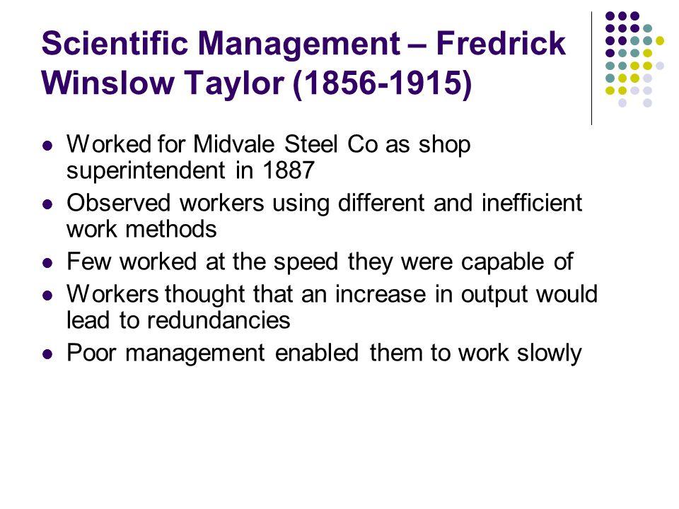 5 principles of Scientific Management (Taylorism) 1.
