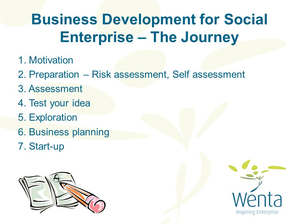 Business Development for Social Enterprise – The Journey 1.