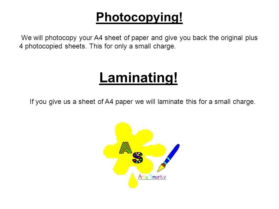 Photocopying.
