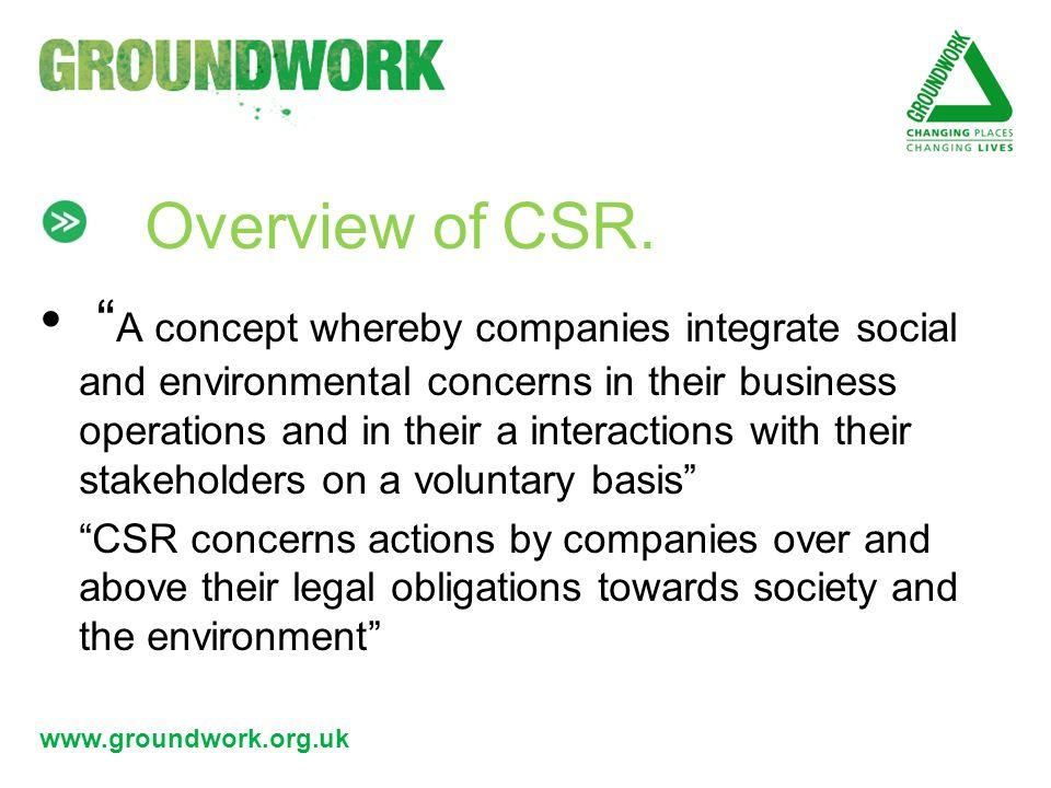 www.groundwork.org.uk Benefits of CSR.