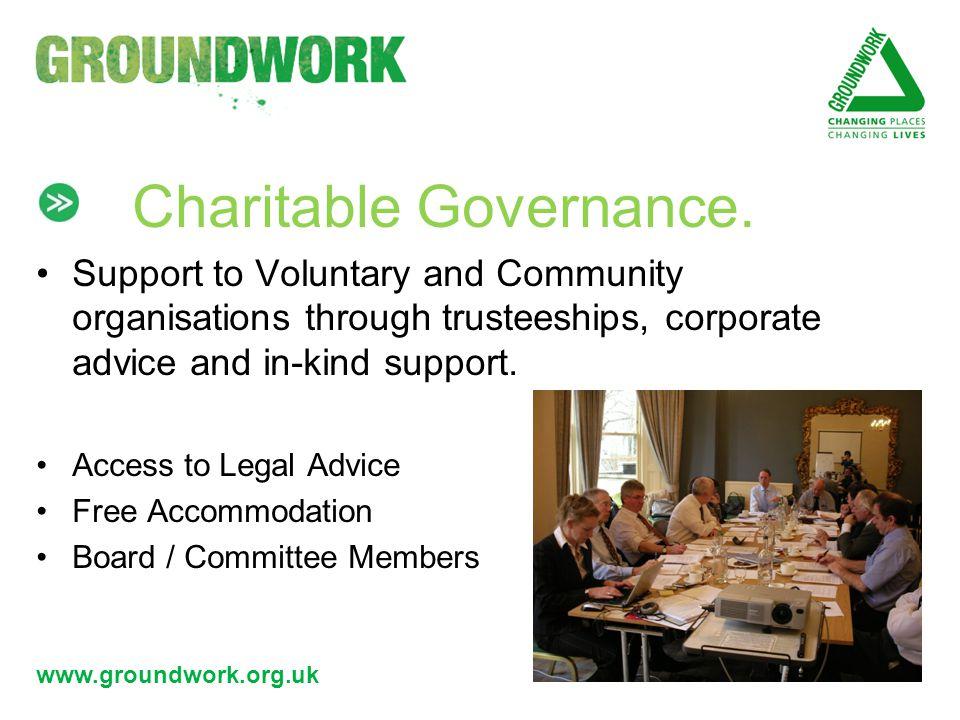 www.groundwork.org.uk Charitable Governance.