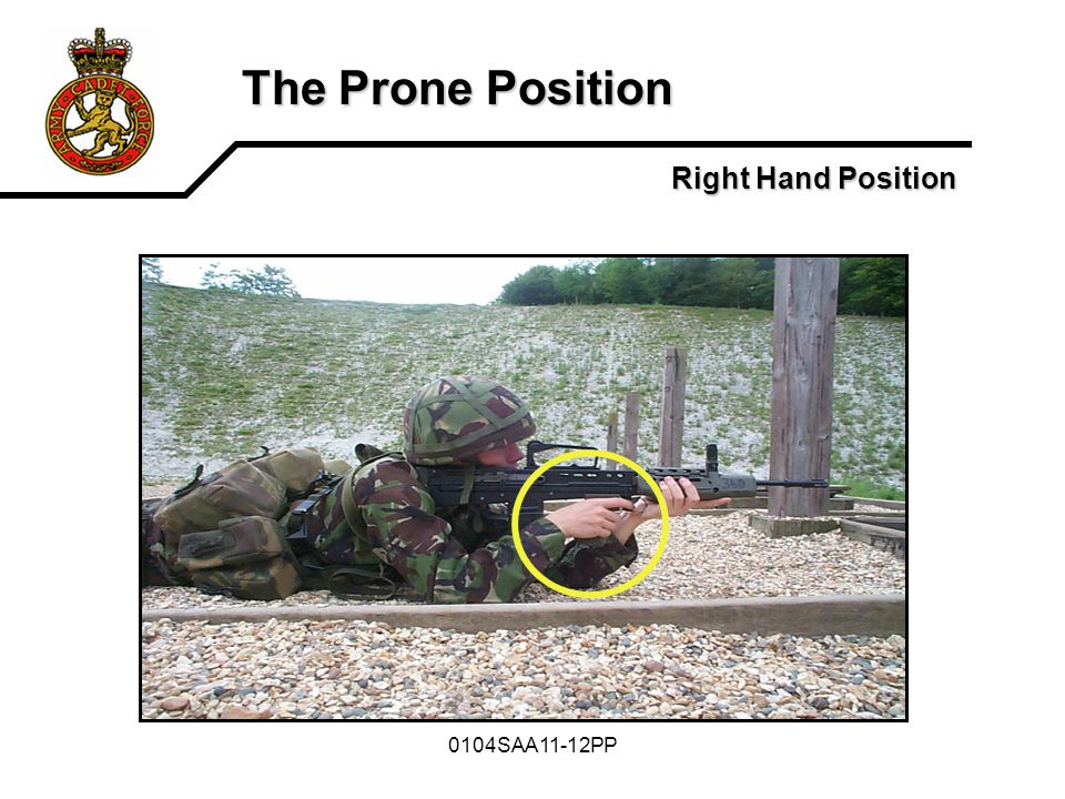 0104SAA11-12PP The Prone Position Right Hand Position