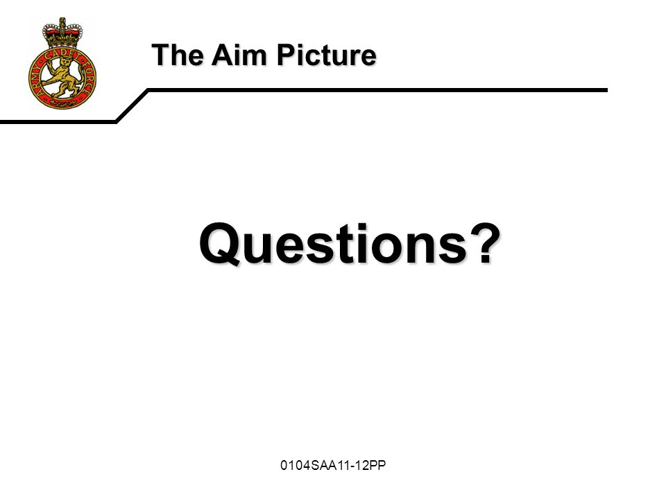 0104SAA11-12PP The Aim Picture Questions?