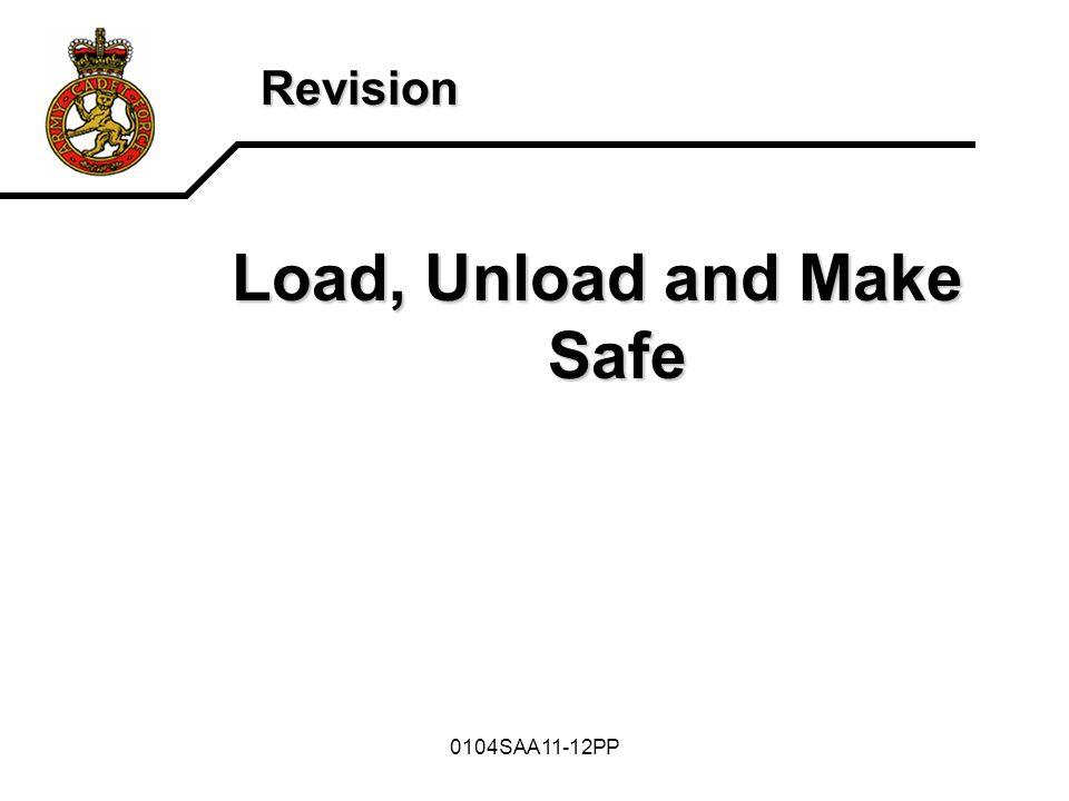 0104SAA11-12PP Revision Load, Unload and Make Safe