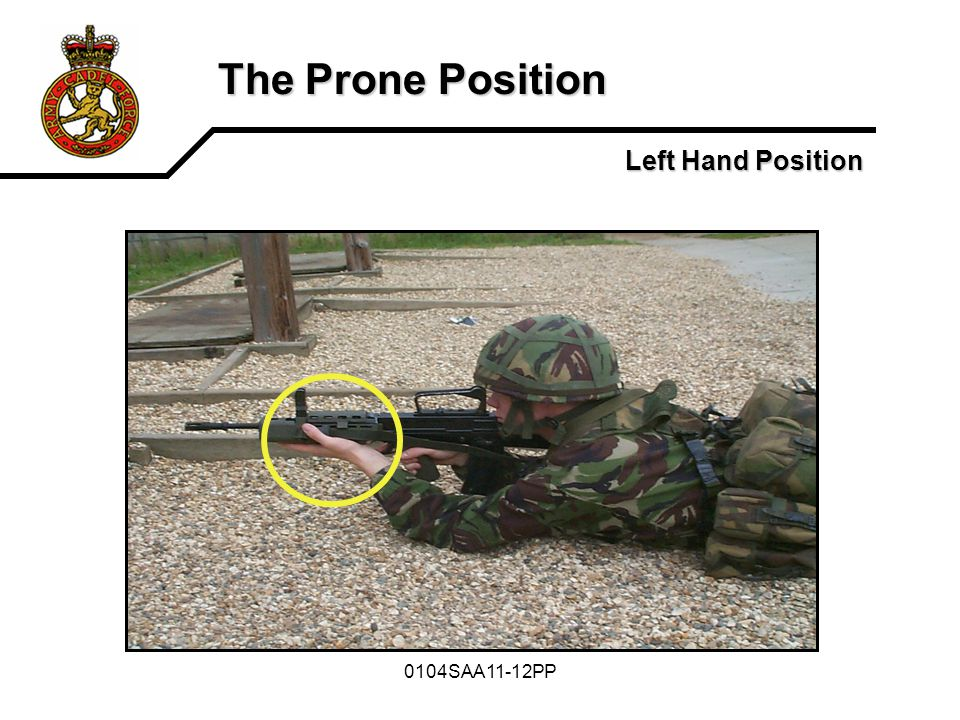 0104SAA11-12PP The Prone Position Left Hand Position