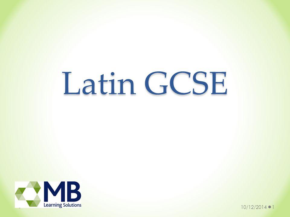 Latin GCSE 10/12/20141