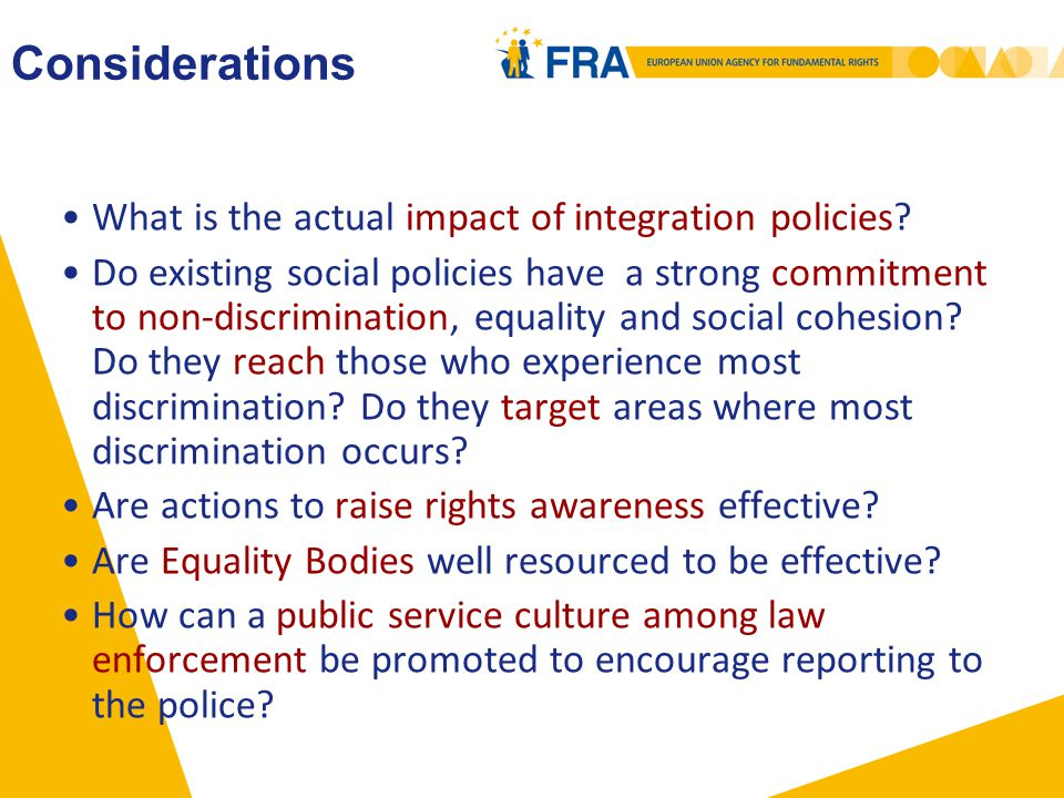 What is the actual impact of integration policies.