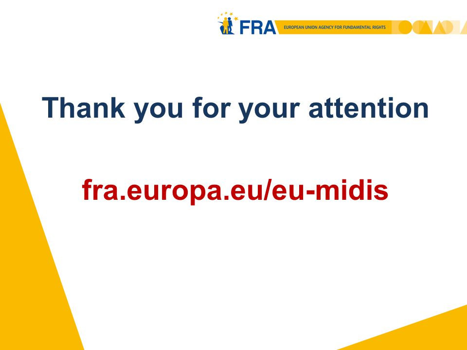 Thank you for your attention fra.europa.eu/eu-midis