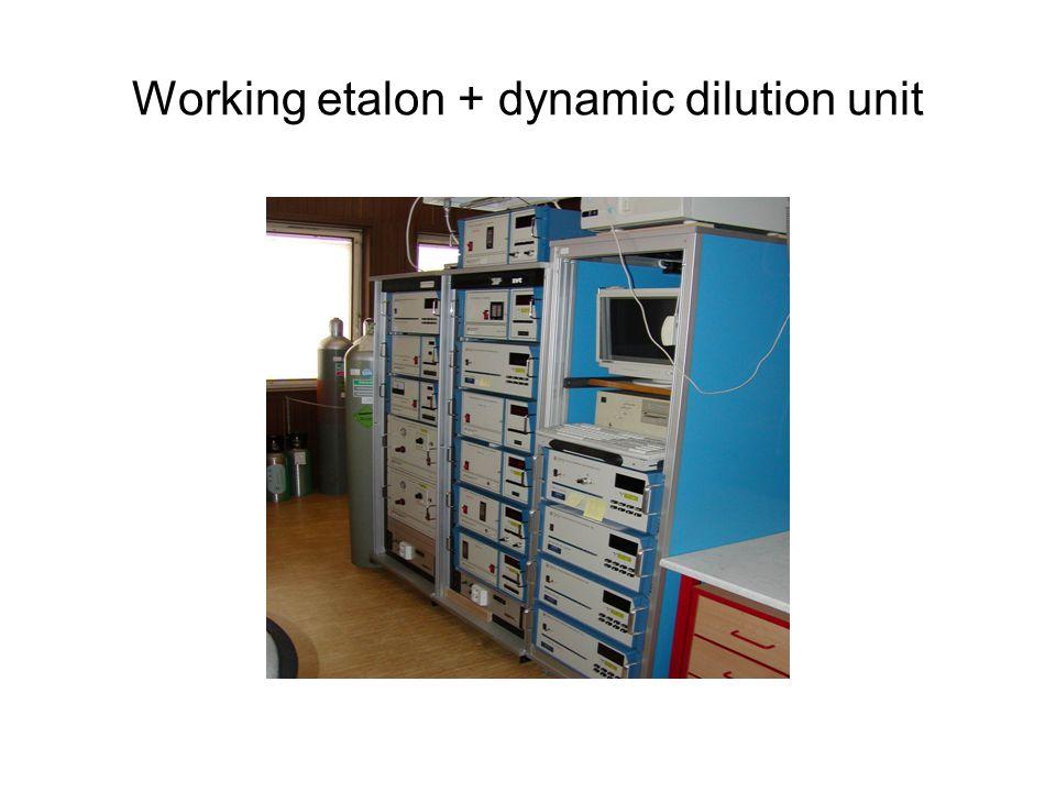 Working etalon + dynamic dilution unit