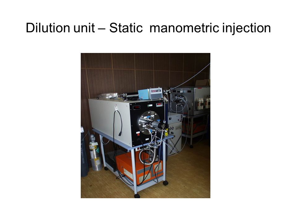Dilution unit – Static manometric injection