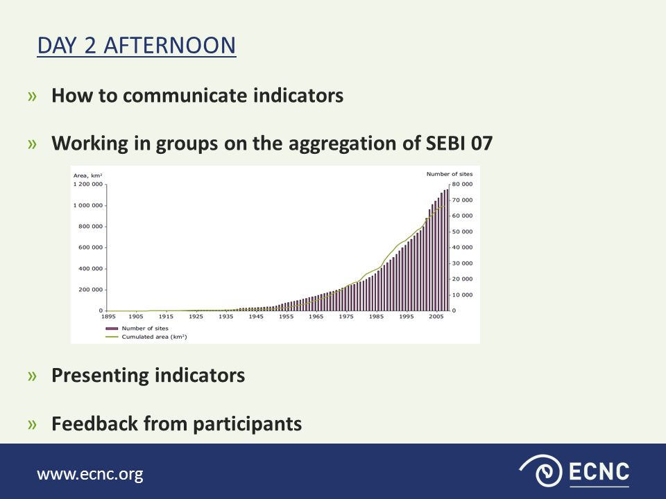 www.ecnc.org »How to communicate indicators »Working in groups on the aggregation of SEBI 07 DAY 2 AFTERNOON »Presenting indicators »Feedback from par
