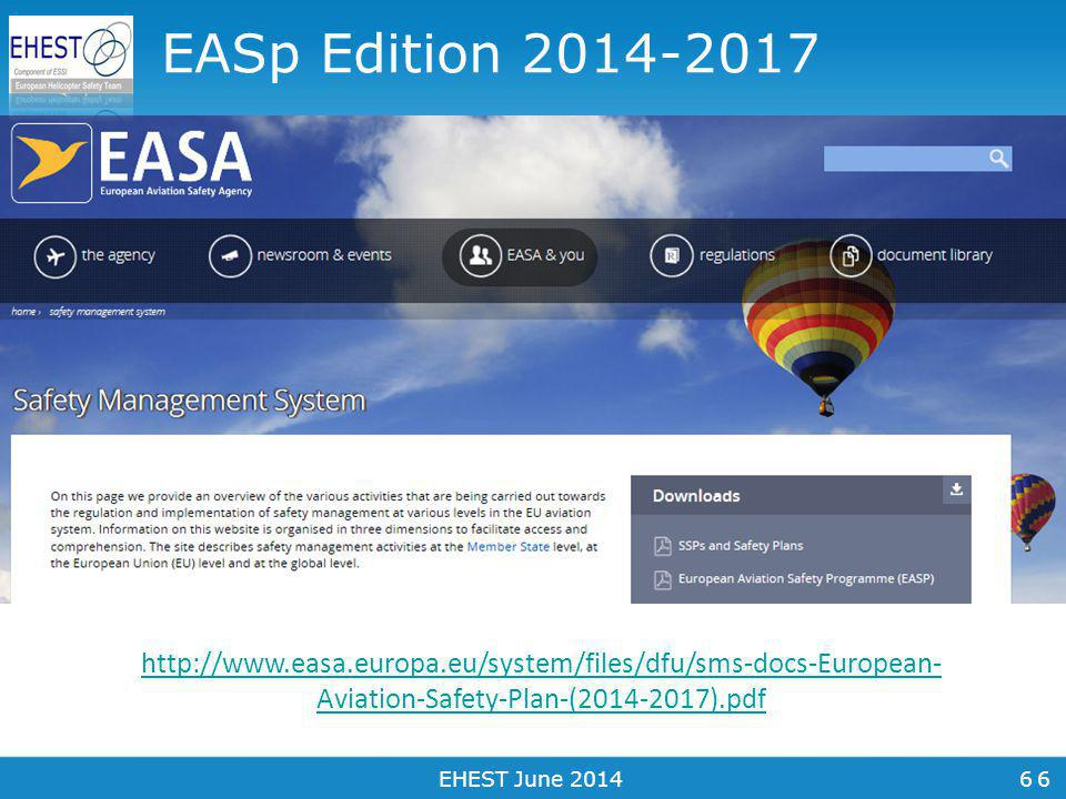 7 A Plan of Action Our regional safety risk portfolio A four year Safety Plan A live process Widely discussed and agreed 7EHEST June 2014