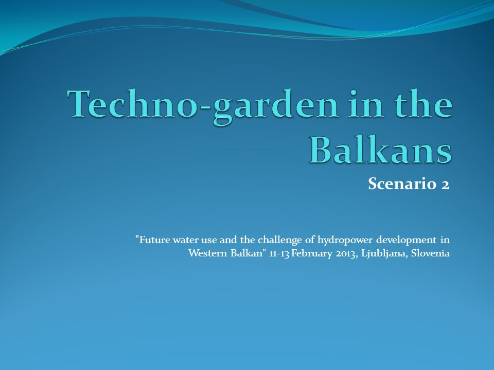 Scenario 2: Techno-garden in the Balkans X Axis – The horizontal axis in the matrix outlines the Climate Change impacts, ranging from Low to High Climate Change impacts on one side.