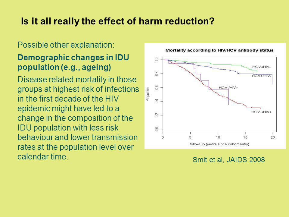 Is it all really the effect of harm reduction.
