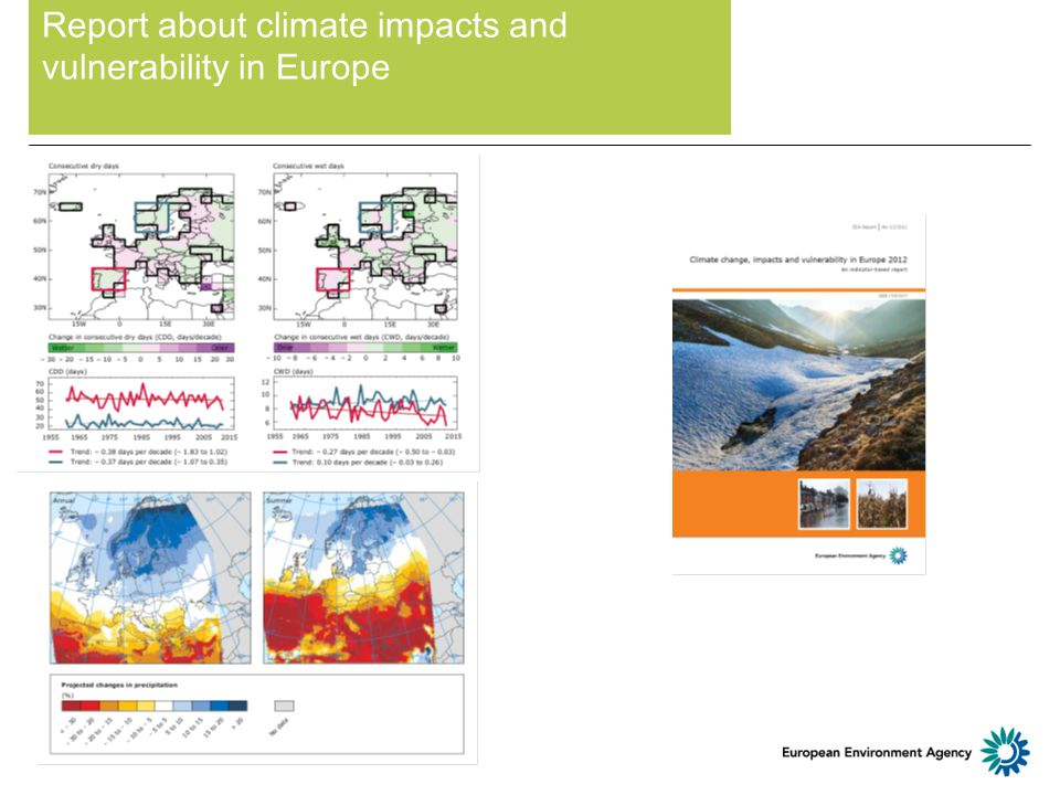Report about climate impacts and vulnerability in Europe