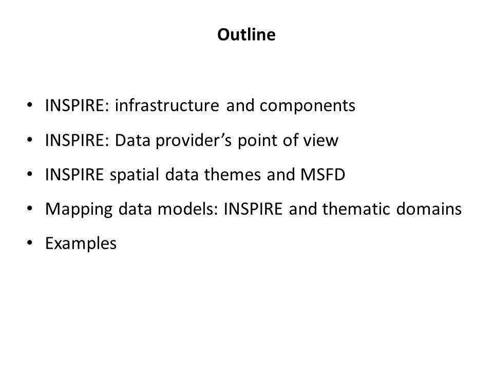 INSPIRE = spatial information infrastructure Built on national spatial data infrastructures Based on standards Interoperable Providing human and machine access and use of spatial data sets and services Data / service providers National SDI Data / service providers National SDI Country A Country B Users Technical rules under INSPIRE: Metadata Data sets and interoperability Services Machine-machine interaction Sharing measures Governance + INSPIRE monitoring, reporting + +