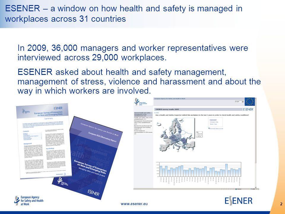 13 www.esener.eu Forms of worker representation: General — works council and/or trade union representative; Specialist OSH — health and safety committee and/or health and safety representative Worker participation Where do we find high management commitment combined with both general and specific worker representation.