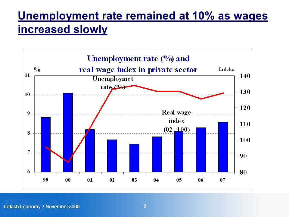 Turkish Economy / November Unemployment rate remained at 10% as wages increased slowly